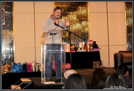 Peter Morey addresses beauty queen hopefuls during a recent Miss SA workshop in Johannesburg
